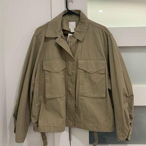 Boxy twill jacket